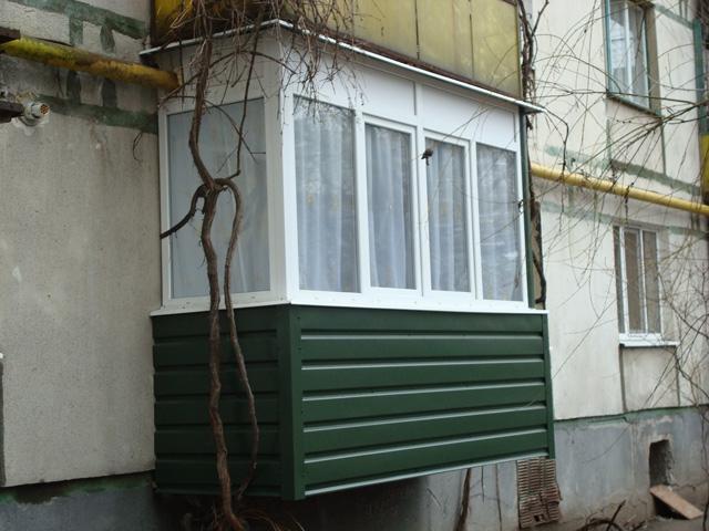 Наружная отделка балконов и лоджий в могилеве.